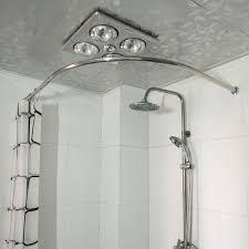 round corner shower rod