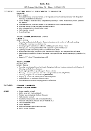 Telemarketer Resume Samples Velvet Jobs