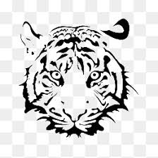 tiger face clipart black and white. Perfect Black Painting Tiger Head Tiger Clipart Head Steller PNG Image And  Clipart Throughout Face Black And White