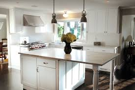 white cabinet furniture. Traditional White Kitchen Interior Themes Using Shaker Cabinet And Freestanding Counter Island Furniture