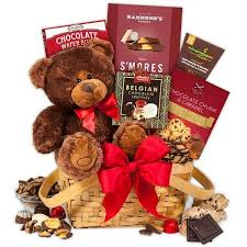 dels about teddy bear chocolates valentine s day gift basket