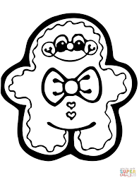 Cute Gingerbread Man Coloring Page Free Printable Coloring Pages