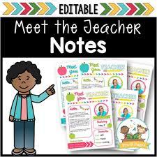 Meet The Teacher Letter Templates Editable Meet The Teacher Letter Pre K Pages