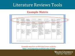 Literature Review Matrix Sample Annotated Bibliography And Literature Review Basics Jessica Barron