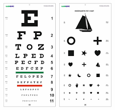Amazon Com Snellen And Kindergarten Wall Eye Chart Size 22