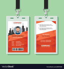 Identification Card Samples Creative Office Identity Card Template