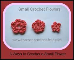 Small Crochet Flower Pattern Custom Decoration