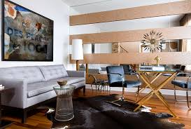 ... Give your masculine living room a midcentury modern touch [By: Toronto  Interior Design Group
