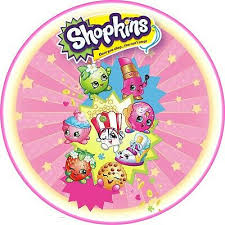 Shopkins 7 Inch Edible Image Frosting Sheet Cake Topper 1200