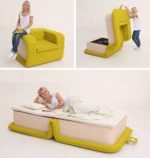 Chairs that convert to beds Convertible Sleeper This Armchair Is Designed To Fold Out Into Bed What Wonderful Dualpurpose Piece Of Furniture Tiny Homes Pinterest This Armchair Is Designed To Fold Out Into Bed What Wonderful