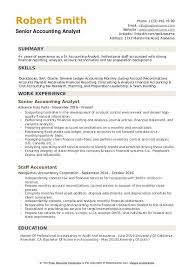 resume format for experienced accountant senior accounting analyst resume samples qwikresume