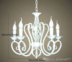 rustic crystal chandelier luxury iron vintage antique white chain pendant lamp home bronze