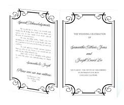 Church Program Template Printable Wedding Word Doc Helenamontana Info