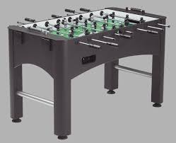 The Brunswick Kicker is an exclusive sturdy cabinet with a matte black  finish foosball table that has a three-man goalie that offers a wall of  defense and ...