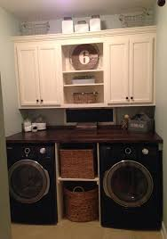 Laundry room makeover....but make the bottom middle whereas would hide the
