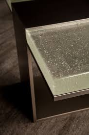 Luma Design Workshop Detail Shot Of Cast Glass On Luma Design Workshop Table