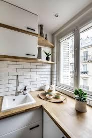 Interior design:Windo Wall Small Parisian Apartment Small Apartment Kitchens  interior design for small flats