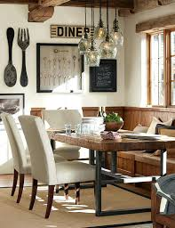 pottery barn celeste chandelier rustic dining room ideas knock off