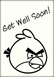 Angry Birds Get Well Soon Colouring Pages Color Zini
