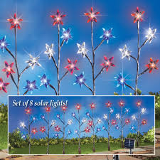 Red White Blue Solar Lights Red White Blue Star Solar Path Stakes Solar Lights