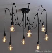 adjustable lighting fixtures. Vintage Pendant Lamps RH Loft Retro Edison Bulbs Hanging Lights Creative Spider Lighting Fixture 110V-240V Free Shipping Adjustable Fixtures S