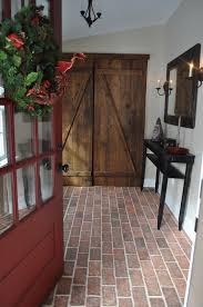 brick tile flooring hallway