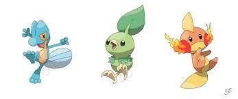 Type swapped gen 3 starter Pokemon.: pokemon