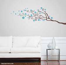 dotty tree branch wall decal abstract