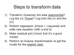 10 steps to transform data