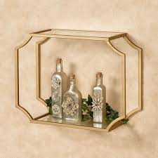 chic glamour gold wall shelf for display