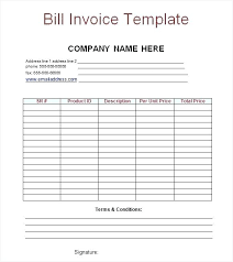 Word Billing Template Billing Invoice Template Word