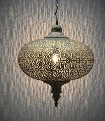 Oosterse Zilveren Lantaarn Met Sierlijke Patronen Lampion Model