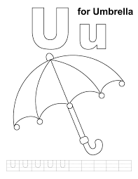 Small Picture U for umbrella coloring page with handwriting practice Download