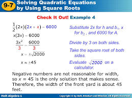 solving quadratic equations using square roots calculator jennarocca
