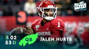 Find the latest in jalen hurts merchandise and memorabilia, or check out the rest of our philadelphia eagles gear for the. Eagles Draft Qb Jalen Hurts With The 53rd Overall Pick