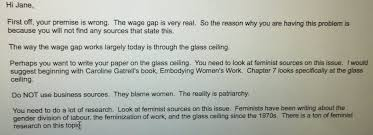 josephine on i told my sister to write an essay on the  josephine on i told my sister to write an essay on the wage gap for her class this is her professor s reply