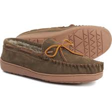 Minnetonka Moccasin Autumn Brown Tyson Traditional Trapper Moccasins Suede For Men