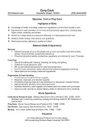 Prep Cook Resume Pleasing Restaurant Cook Resume Sample