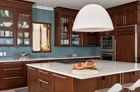 blue scheme mosaic kitchen backsplash