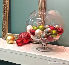 Glass Bowl Decoration Ideas Speedy Holiday Decorating Idea Festive Glass Bowl UTR Déco Blog 3