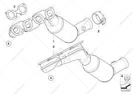 Car bmw x e n engine parts diagram exhaust manifold catalyst for bmw i sav ece list