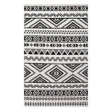ivy bronx shaun geometric moroccan tribal black white area rug wayfair pertaining to and rugs idea 1