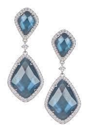 image of nadri london blue topaz double drop earrings