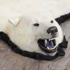 for 7 foot 1 inch 215cm polar bear rug 14001 at