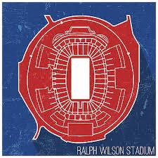 Buffalo Bills Ralph Wilson Stadium Seating Map Poster 24