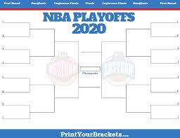Printable Nba Playoff Bracket 2020 Nba Playoff Matchups