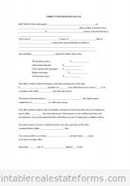 blank real estate purchase agreement free printable offer to purchase real estate form pdf
