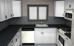 Cute Black Tile Kitchen Countertops Simple Design For Black And White  Backsplash Home Ideas Subway Granite ...