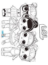Cartoni Animati Disegni Da Colorare Delle Piccole Lol Surprise Le