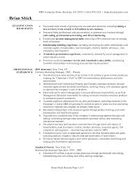 Resume Format Sales Manager Resume For Your Job Application